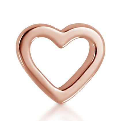 14k Rose Open Heart