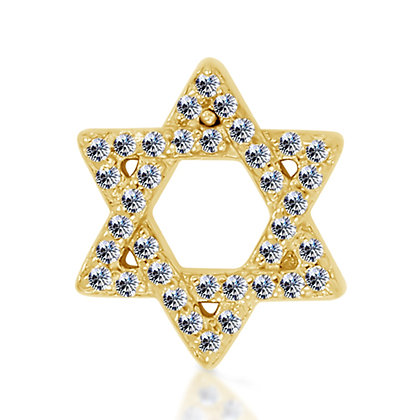 14k Yellow Diamond Star
