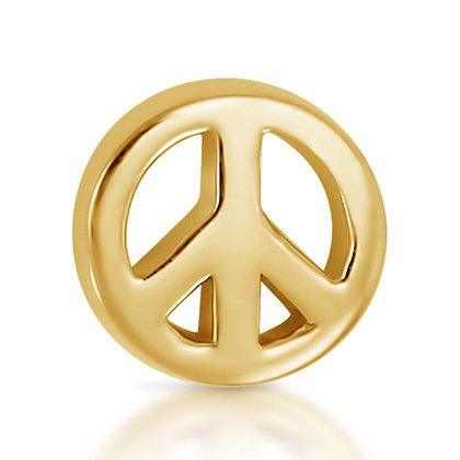 14k Yellow Peace Sign