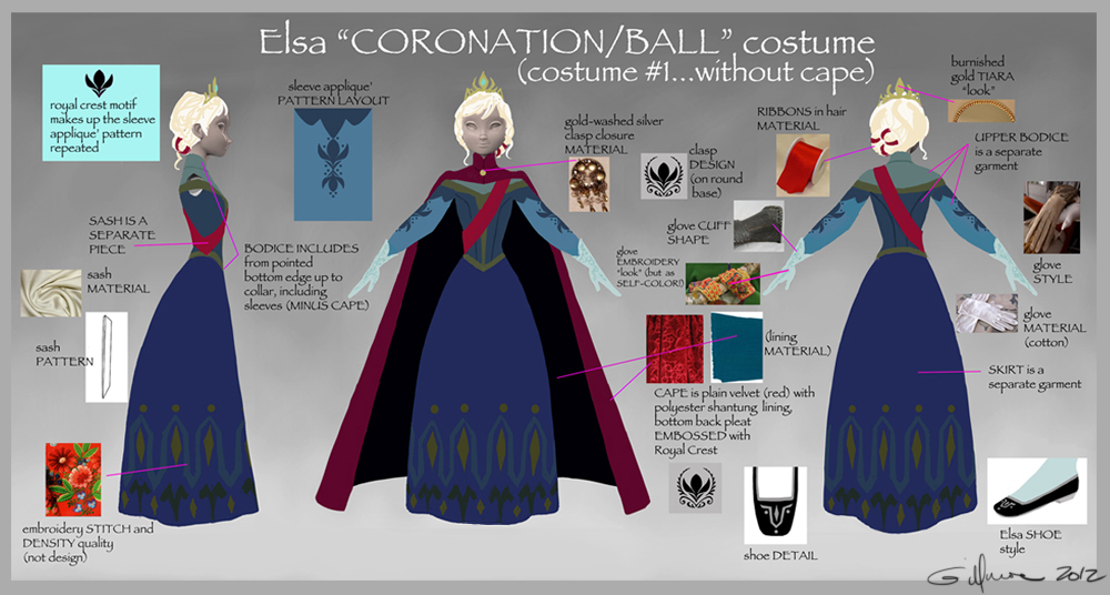 Elsa's Coronation Gown Call-out