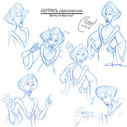 Soreceress GOTHEL  (expressions)