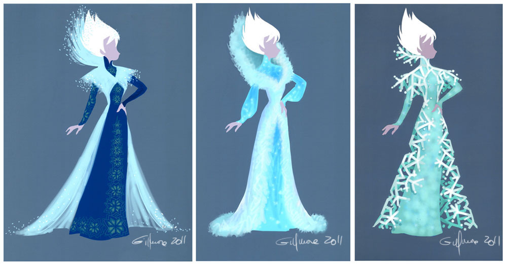 Snow Queen Gown Variations_Trio