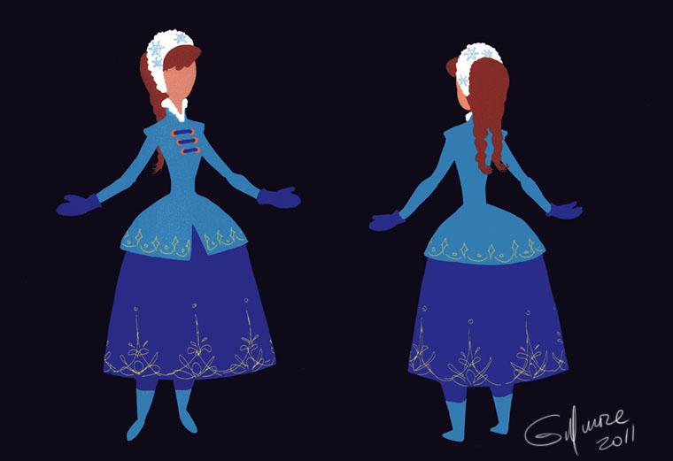 Anna Blue Dress Turn