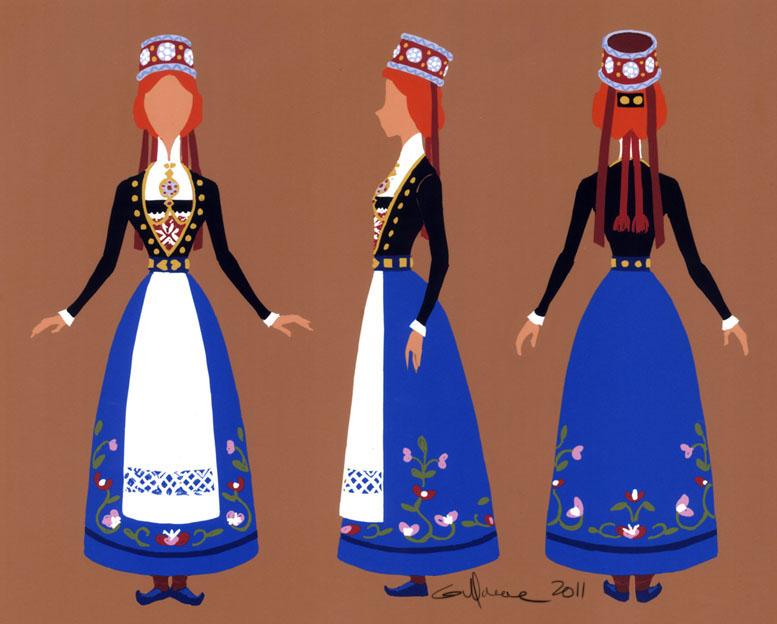 Anna Folk Costume Turn