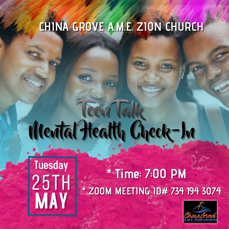 Teen Talk - Mental Health Check-in