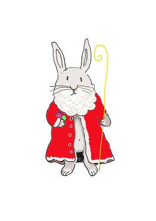 Postkarte, Ostern und Weihnachten Nikola