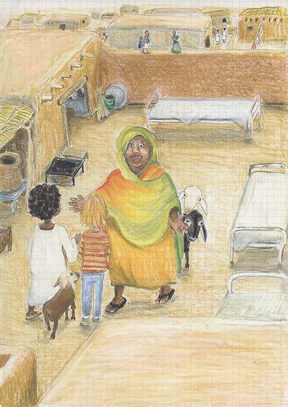 Kindergeschichte,_Sudan,_Begrüßung_im_