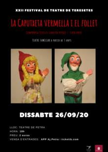 26/09/2020 - LA CAPUTXETA VERMELLA I EL FOLLET