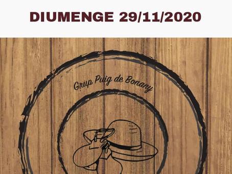 29/11/2020 - VIVIM ELS 40 A DINS CA NOSTRA! Grup Puig de Bonany.