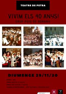 29/11/2020 - els 40 anys!!! del GRUP PUIG DE BONANY