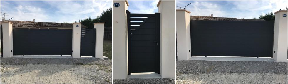 Portail et portillon Aluminium Noir sur-mesure
