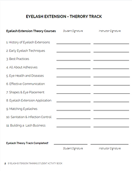 Eyelash Extension Training Student Activ