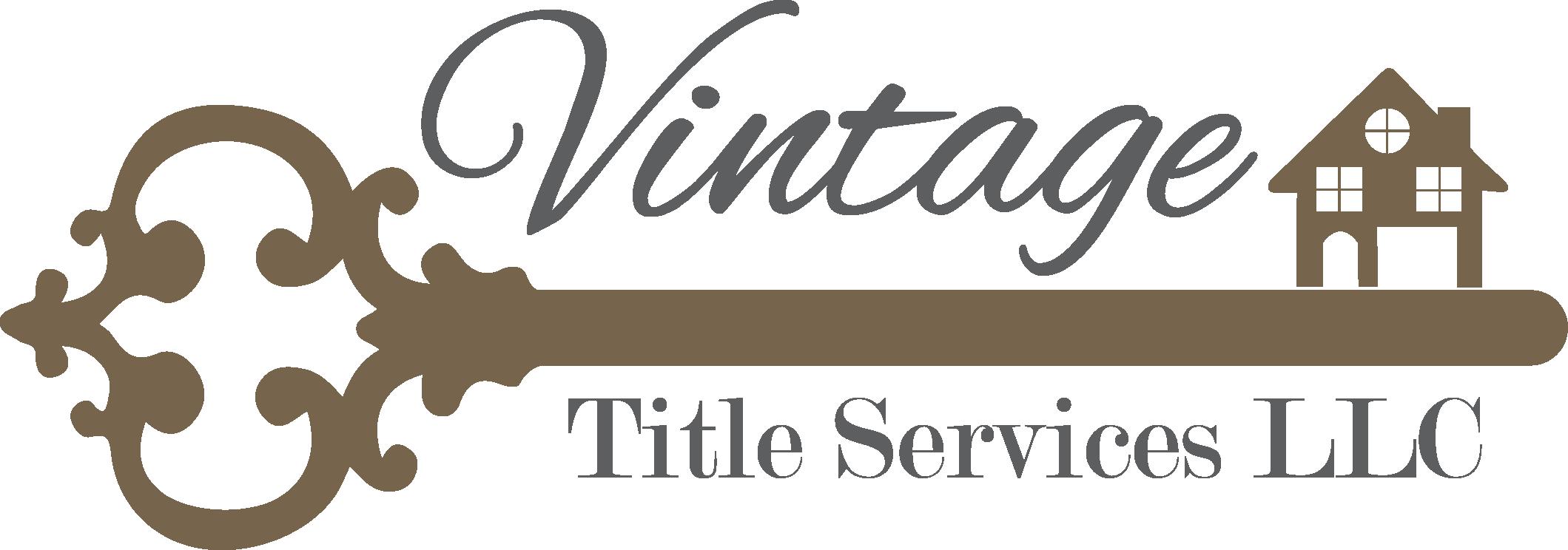 Vintage Title Insurance Color Logo