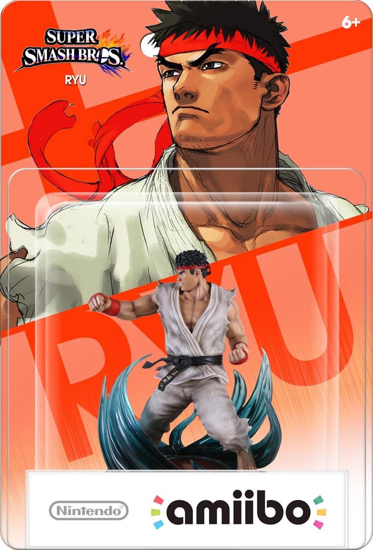 Ryu custom nintendo amiibo