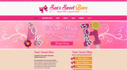 Sans Sweet Bows Website Design