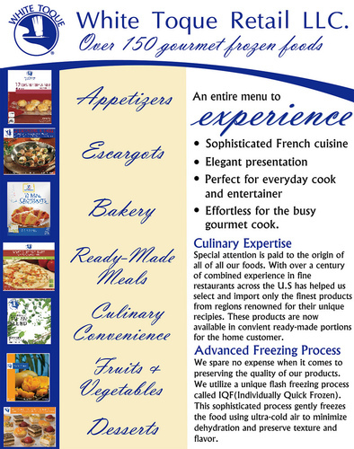 White Toque Frozen Food Flyer Design
