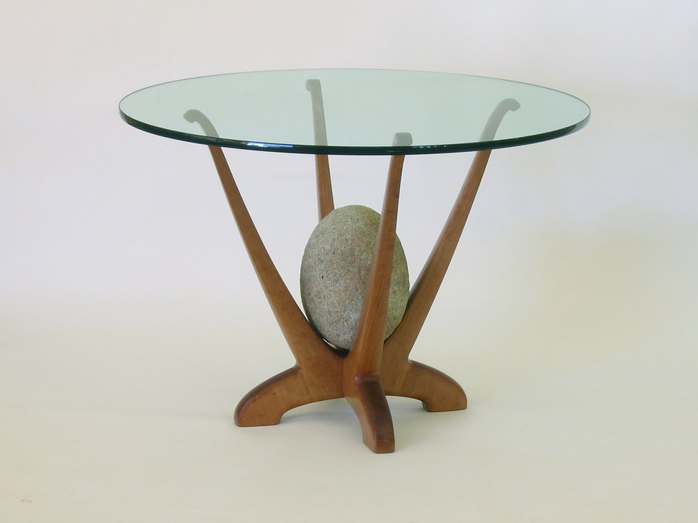 Glass and Granite Dining Table