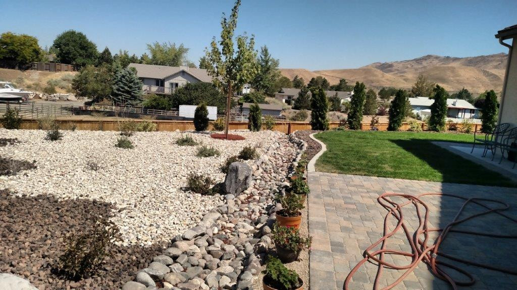 Xeriscape with natural stone