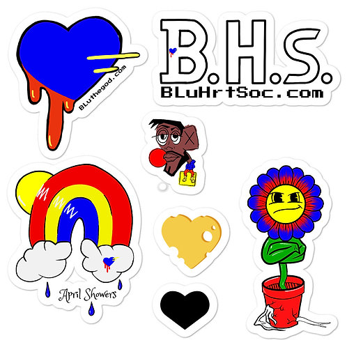 BHs Spring Bubble-free stickers