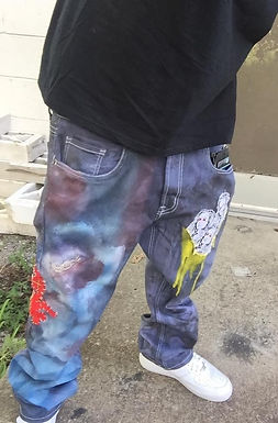Custom BHs patched Jeans