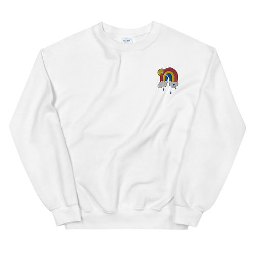 Embroidered Blu Rainbow Sweatshirt