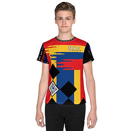 BHs All-Over Print Youth Crew Neck T-Shirt
