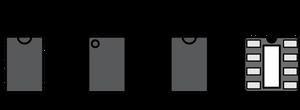 Держите микросхемы в одной ориентации, чтобы номера выводов были выстроены в линию - это облегчит маршрутизацию.