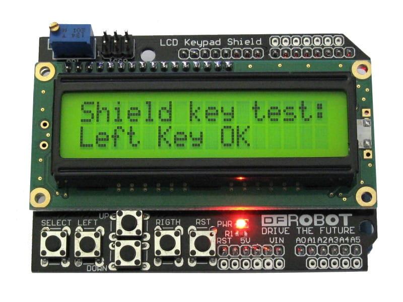 Вывод сообщений с помощью Arduino LCD Shield