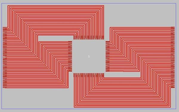 Отличный пример того, как следует делать маршрутизацию печатной платы, выстраивайте повороты под углом 45°. (картинка сверху)