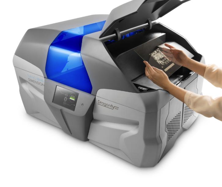Один из первых 3D-принтеров для печатных платах с использованием  проводящих чернил наночастиц, Dragonfly 2020.