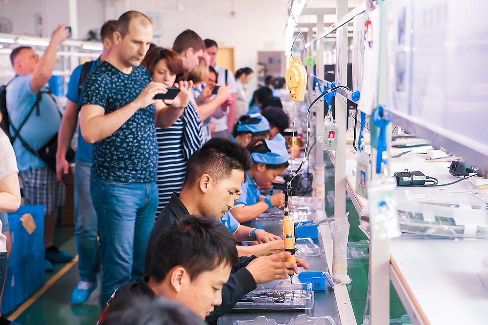 Посещение Китайской фабрики в Китае