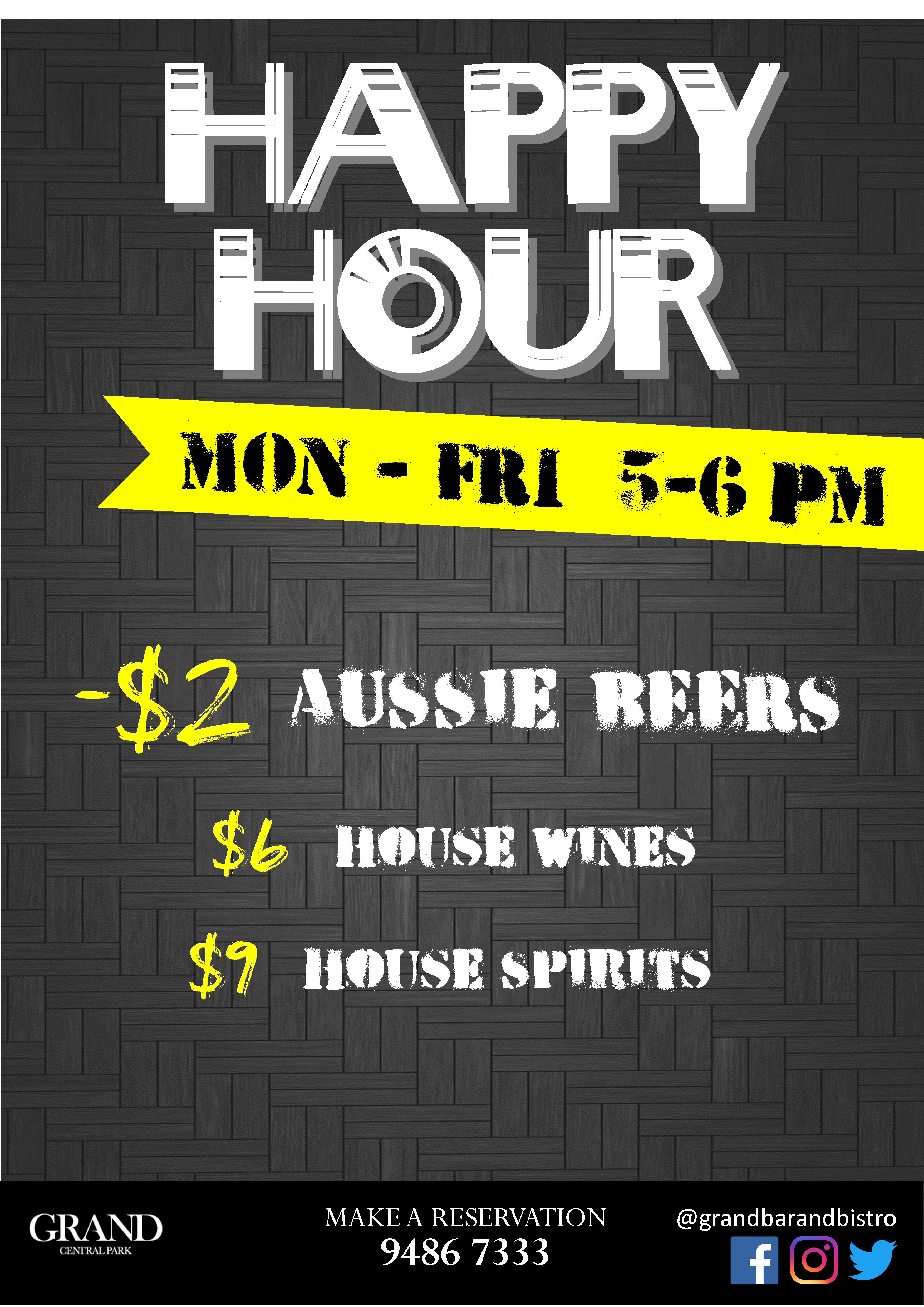 Happy hour a1 poster AUG 20