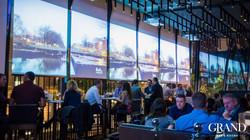 Busy restaurant and bar