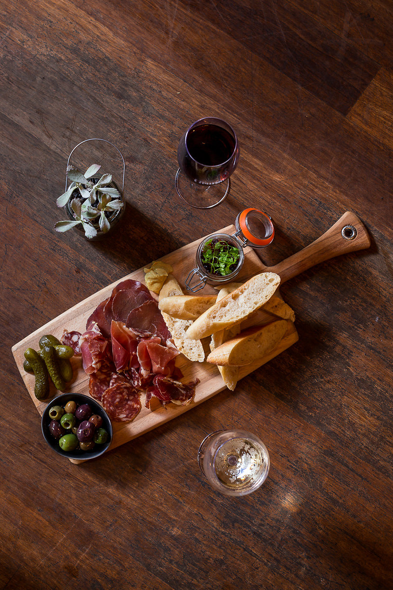 Charcuterie board at The George