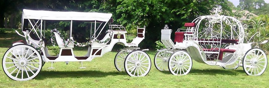 Classic Vis-a-Vis Limo carriage and Princess Carriage