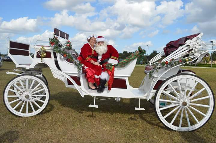 Santa Clause and Mrs. Clause's Carriage