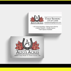 Business Cards for Alto's Acres