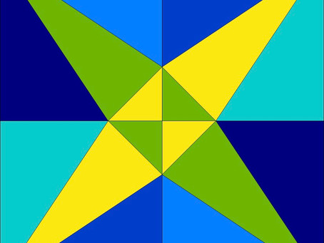 4' Barn Quilt Spotlight - Crossed Kayaks