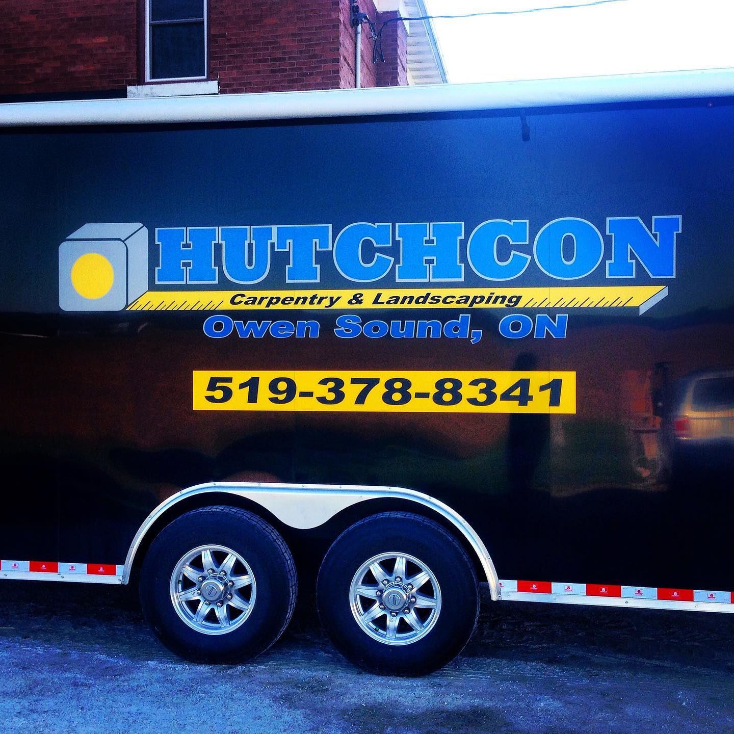 Trailer Decals for Hutchcon Carpentry & Landscaping