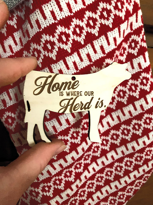 Home is where our Herd is Ornament