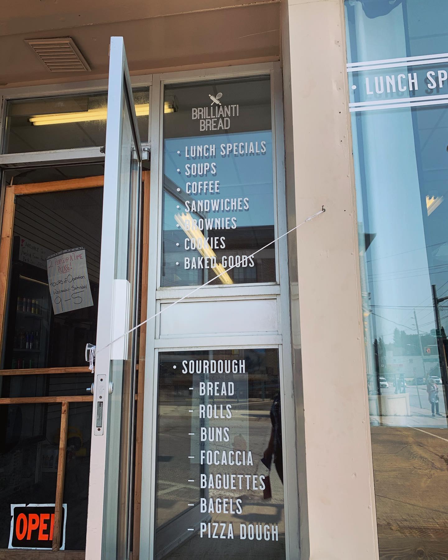 Storefront Windows for Brilliant Bread