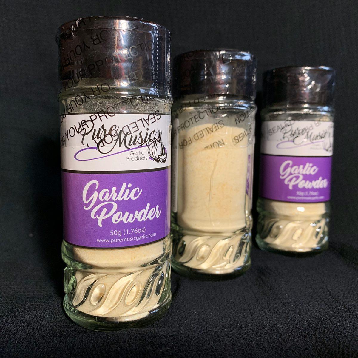 Garlic Powder Labels for Pure Music Garlic