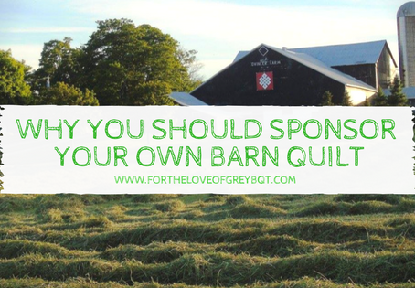 Why you should Sponsor your own Barn Quilt