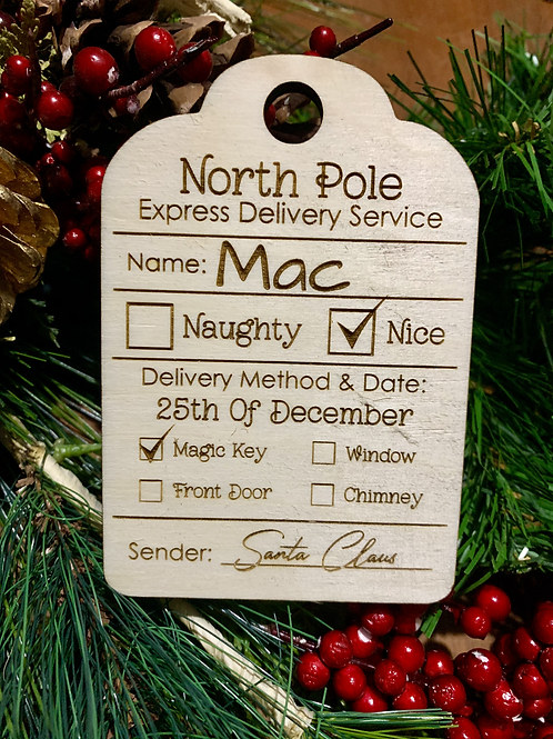 Special Delivery Personalized Gift Tag / Stocking Tag