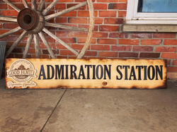 Wooden Sign with Raised Lettering and Engraved Logo for Good Family Farms