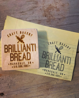 Finished Custom Rubber Stamp for Brilliant Bread