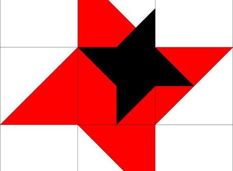 4' Barn Quilt Spotlight - The Friendship Star