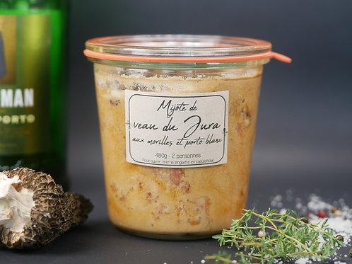 Mijoté de veau du Jura aux morilles et porto blanc