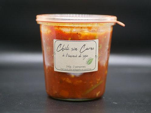 Chili sin carne à l'émincé de soja