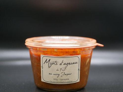 Mijoté d'agneau du Fuet au curry Jaipur